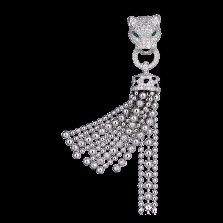Браслет Panthère de Cartier: белое золото, изумруды, оникс, бриллианты