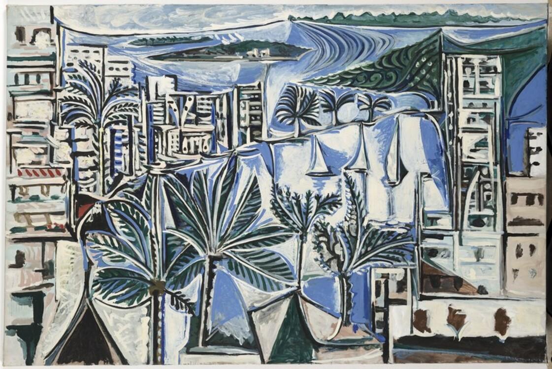 Пабло Пикассо, La Baie de Cannes Канны, 19 апреля 1958 год