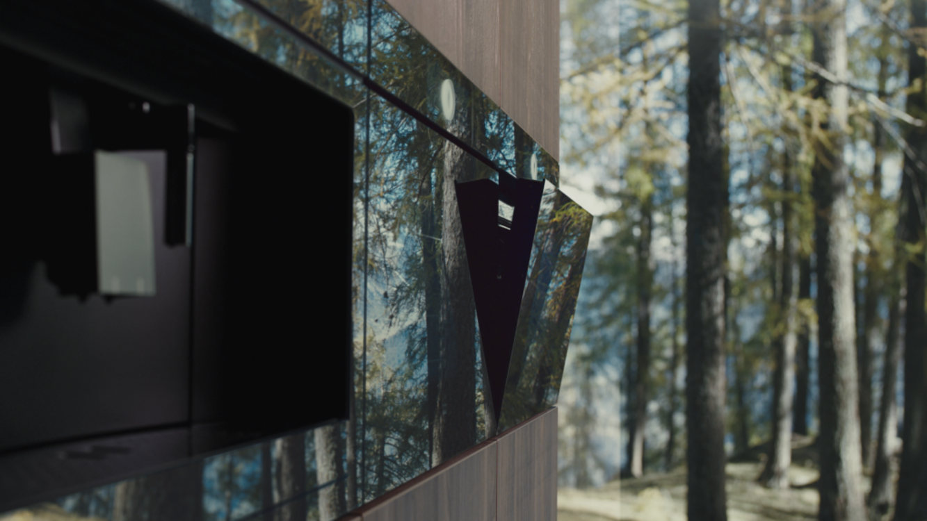 Зеркальные фасады Excellence Line отражают окружающую среду, гармонично вписываясь в дизайн пространства кухни