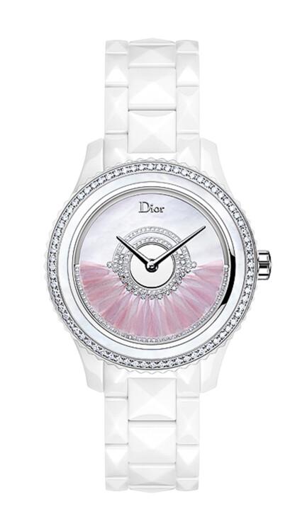 Часы Grand Bal, роторный механизм Dior Inversé, корпус из керамики, бриллианты, ротор украшен перьями петуха, Dior Horlogerie