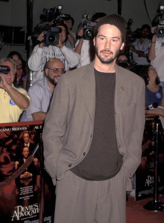 Кіану Рівз під час прем'єри «Адвокат Диявола» в Нью-Йорку, 1997