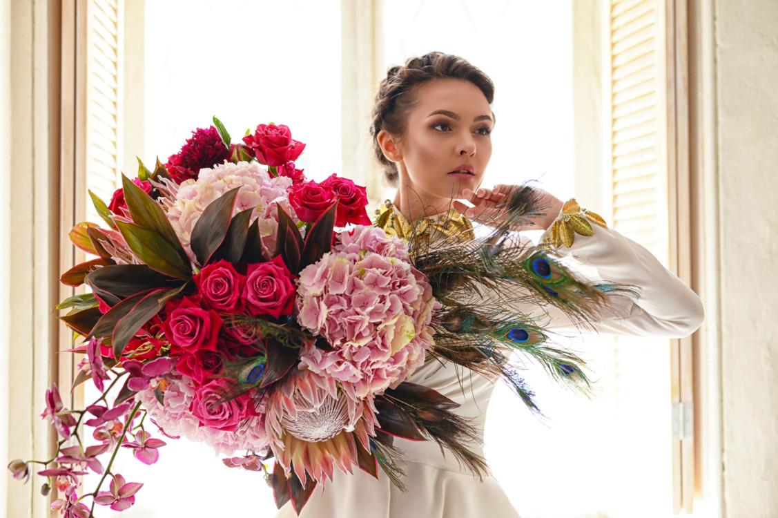 """Летняя коллекция букетов """"Гера"""", цветочная мастерская LoraShen"""