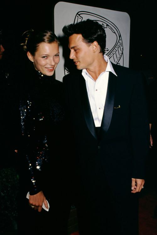 Кейт Мосс и Джонни Депп, 1995