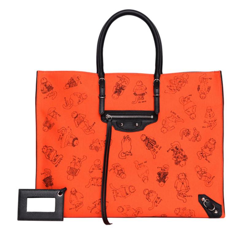 Лімітована сумка Balenciaga з ілюстраціями авторства Грейс Коддінгтон, 2012 рік