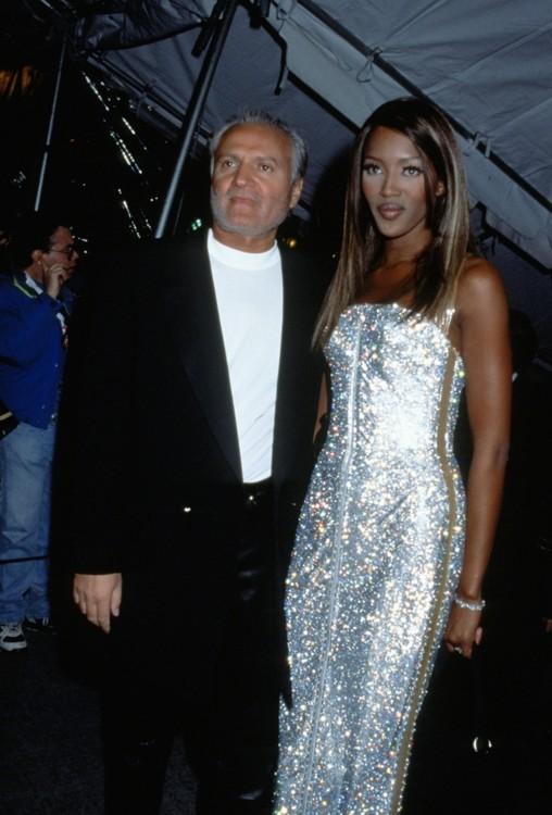 Наоми Кэмпбелл и Джанни Версаче, Нью-Йорк, 1995 год