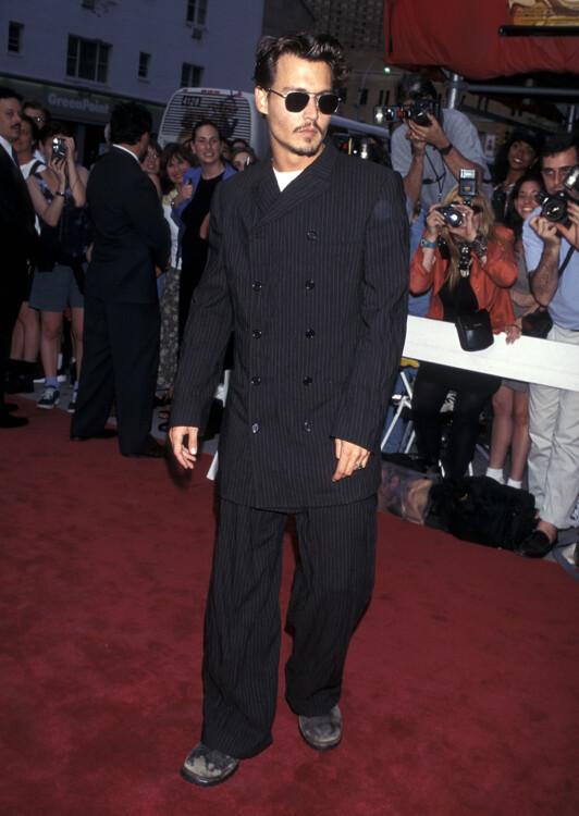 Джонни Депп на премьере фильма «Страх и ненависть в Лас-Вегасе» в Нью-Йорке, 1998