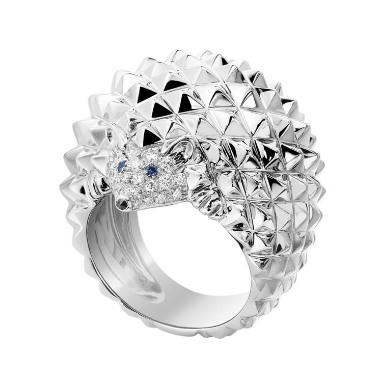 Кольцо HANS, белое золото