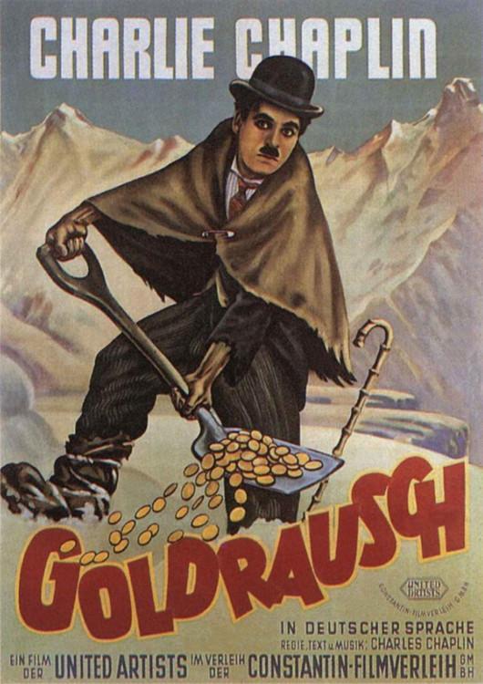 """постер фильма """"Золотая лихорадка"""", 1925"""