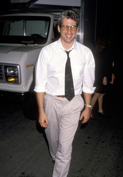 Ричард Гир на дне рождения Герба Ритца, 1989