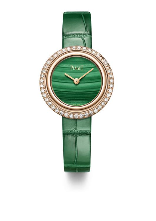 Годинник Possession, рожеве золото, діаманти, малахіт, Piaget