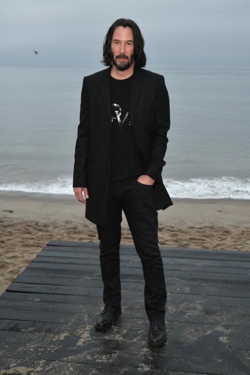 Кіану Рівз на шоу Saint Laurent Menswear весна-літо 2020