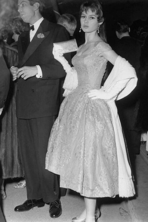Роже Вадим и Брижит Бардо, 1955