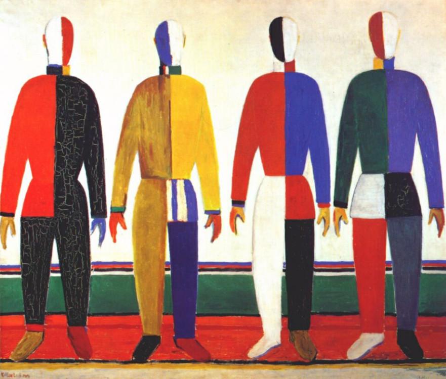 «Спортсмены», 1931 (Государственный Русский музей, Санкт-Петербург)