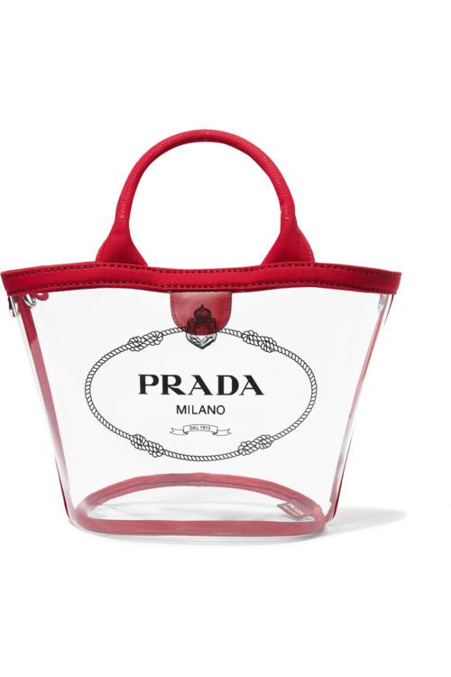 Прозрачная пластиковая сумка (Prada)