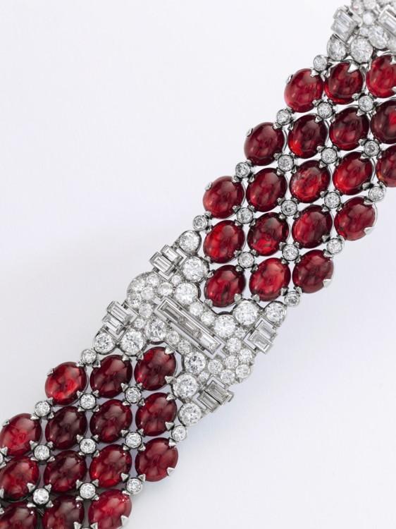 Лот 275 - Ruby and diamond bracelet, Bulgari, Sotheby's
