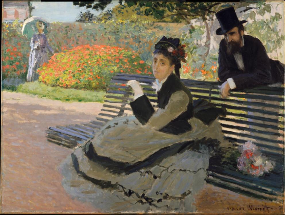 «Камилла Моне на скамейке в саду», 1873