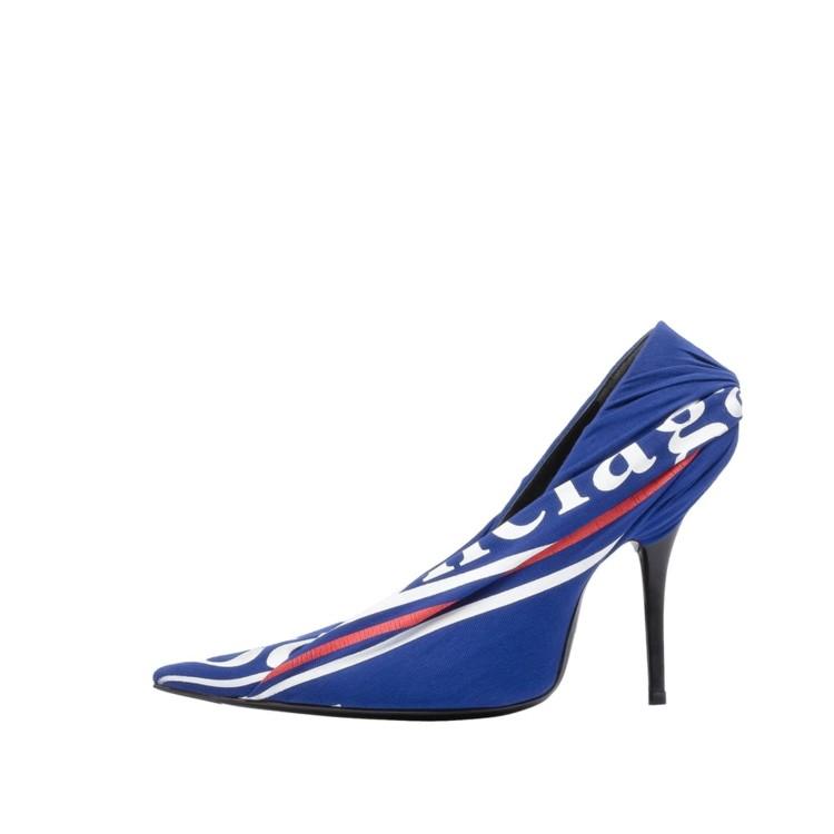 Туфли из кожи и текстиля, Balenciaga