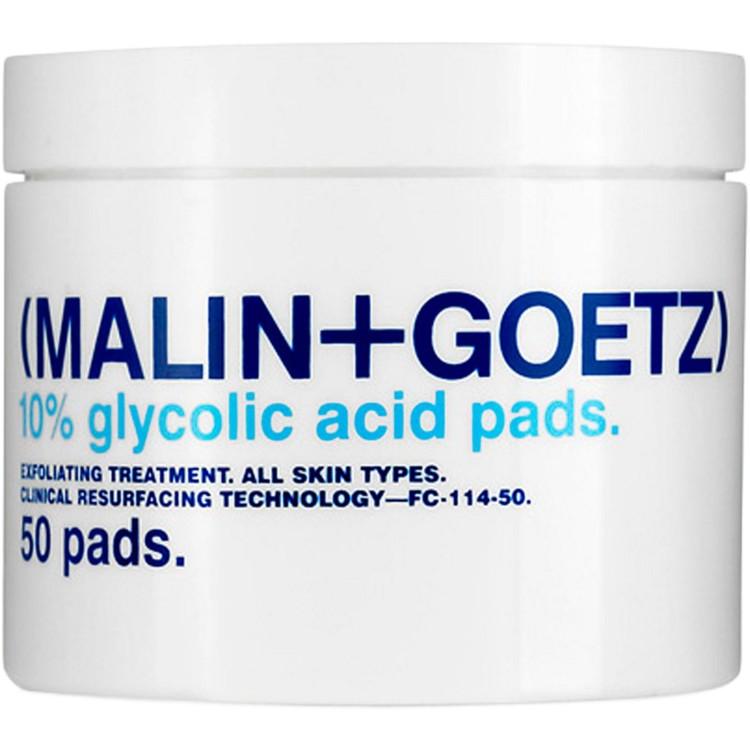 Восстанавливающие гликолиевые салфетки Resurfacing Glycolic Pads, Malin+Goetz. В составе - гликолиевая кислота