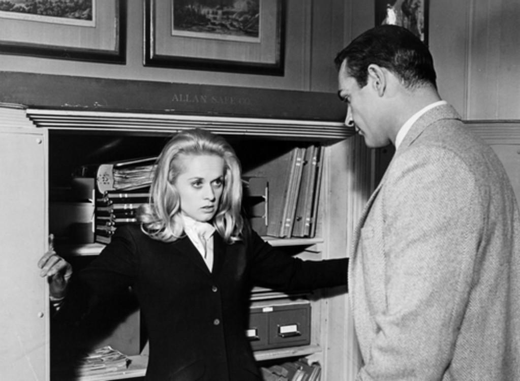 Типпи Хедрен и Шон Коннери в фильме «Марни», 1964 год