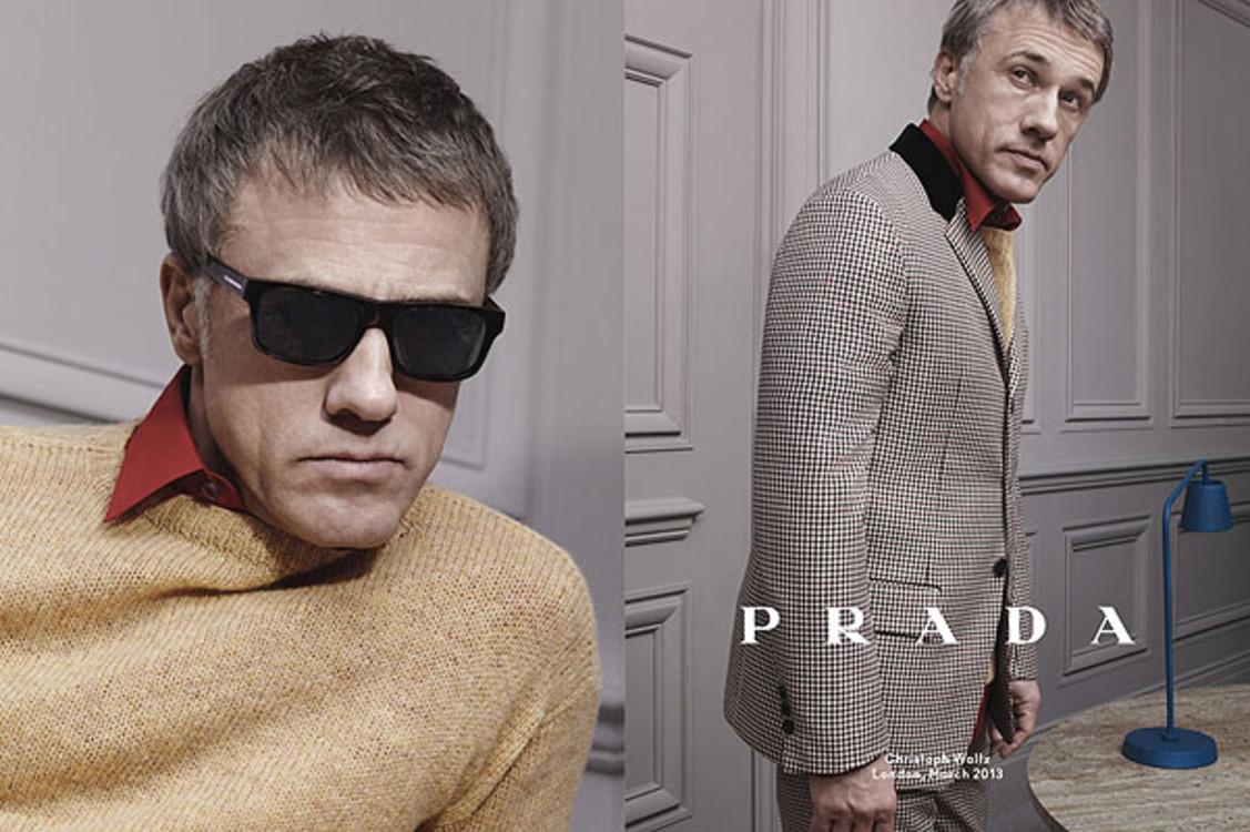 Кристоф Вальц в рекламной кампании Prada осень-зима 2013/2014