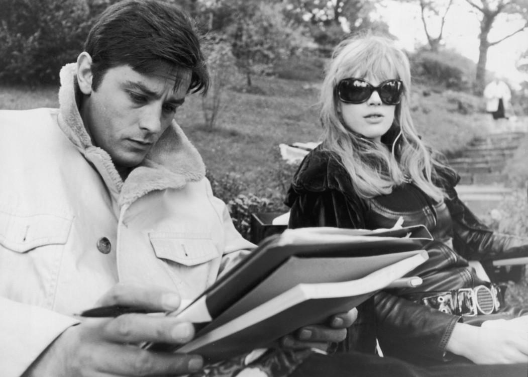 """Ален Делон і Маріанна Фейтфулл у фільмі """"Мотоциклістка"""", 1968 рік"""