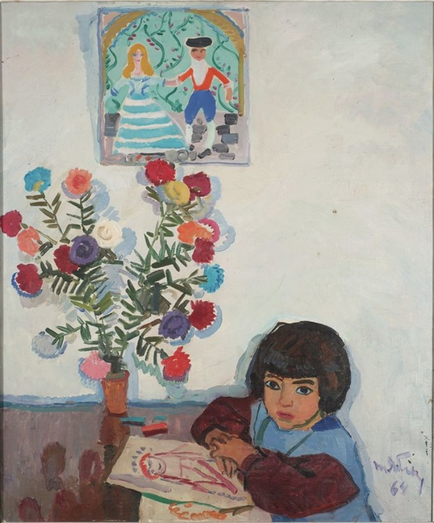 """""""Портрет дочери"""", (в коллекции Одесского художественного музея)"""