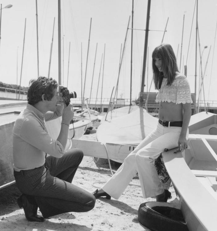 Серж Генсбур и Джейн Биркин в Каннах, май 1969