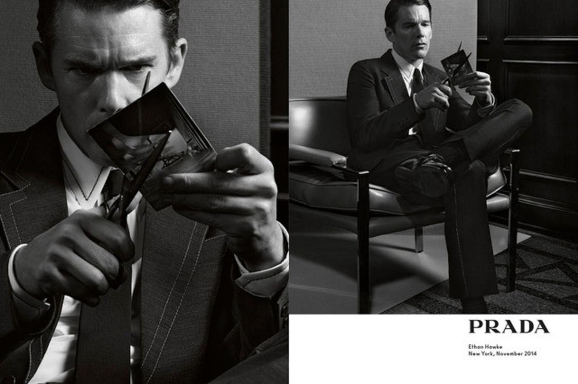 Итан Хоук в рекламной кампании Prada весна-лето 2015
