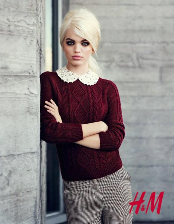 Дафна Гроенвельд в рекламной кампании H&M осень-зима 2012-2013
