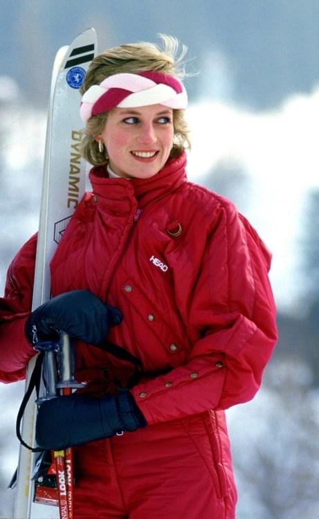 Принцесса Диана в Швейцарии, 1986 год