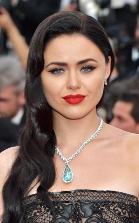 Кристина Базан, Колье из коллекции High Jewellery by Chopard (бриллианты и берилл 80 карат)