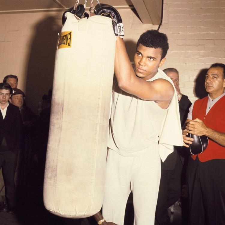 Портрет Мухаммед Али на тренировке, 1960-е