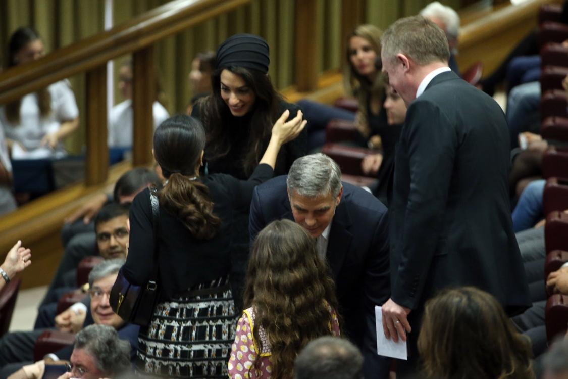 Амаль Клуни и Сальма Хайек