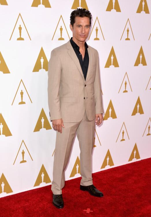 Мэттью Макконахи на обеде номинантов 86-й церемонии вручения премии «Оскар», 2014