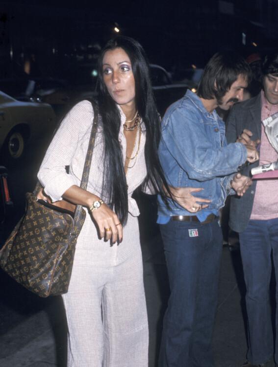 Шер и Сонни Боно в Нью-Йорке, 6 мая 1973 года