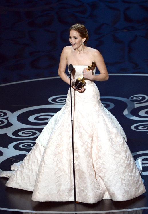 2013 год: Дженнифер Лоуренс в платье Dior Couture