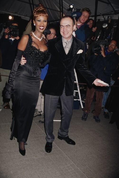 Иман в Christian Lacroix и Кристиан Лакруа, MET Gala 1996