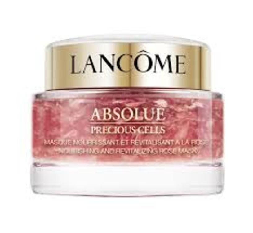 Відновлювальна поживна маска для обличчя з екстрактом троянди Absolue Precious Cells, Lancôme, з екстрактом троянди і пелюстками троянд, яка відновлює, надає шкірі сяйва