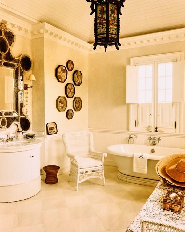 Главная ванная комната Оскара де ла Ренты.  Фото: Франсуа Алар, Vogue, 1998
