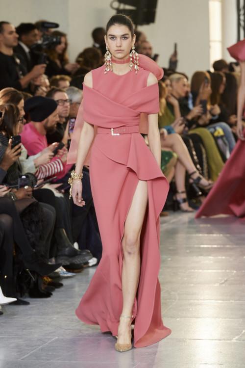 Євгенія Дубінова на шоу Elie Saab Couture весна-літо 2020