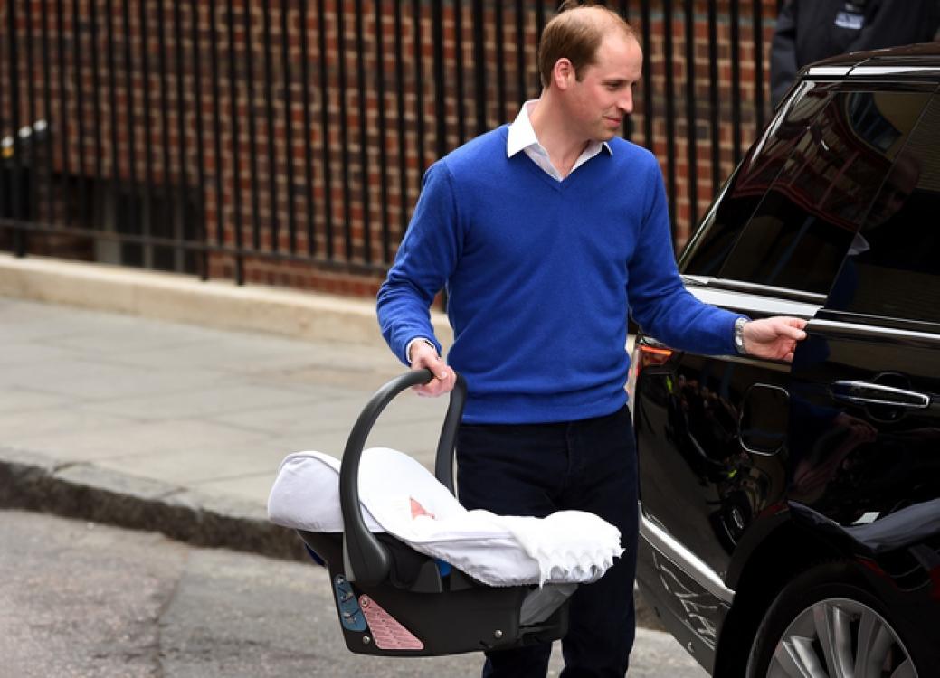 Новорожденная принцесса Шарлотта в день выписки из роддома