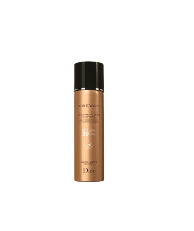Солнцезащитное водостойкое молочко-дымка Beautifying Protective Milky Mist Sublime Glow Dior Bronze, Dior, SPF 30 UVA