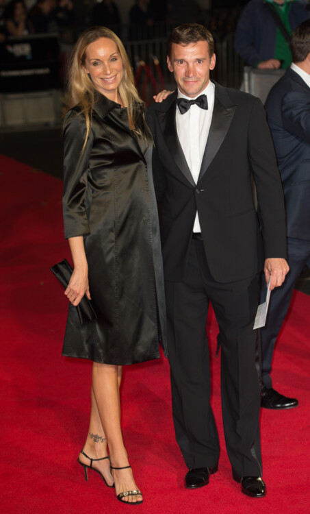 Андрей Шевченко и Кристен Пазик на гала-показе фильма «Ярость» во время 58-го Лондонского кинофестиваля, 2014