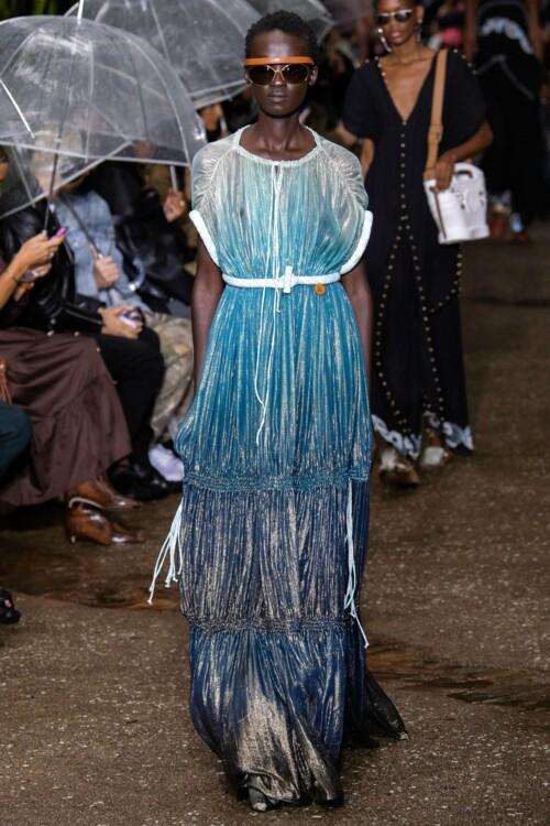 Платье с градиентом Lanvin