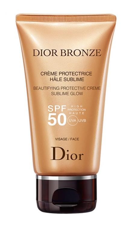 Защитный крем для лица с эффектом сияния Beautifying Protective Creme Sublime Glow, SPF 50, Dior Bronze, Dior