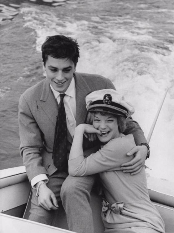Ален Делон и Роми Шнайдер в Италии, март 1959 года