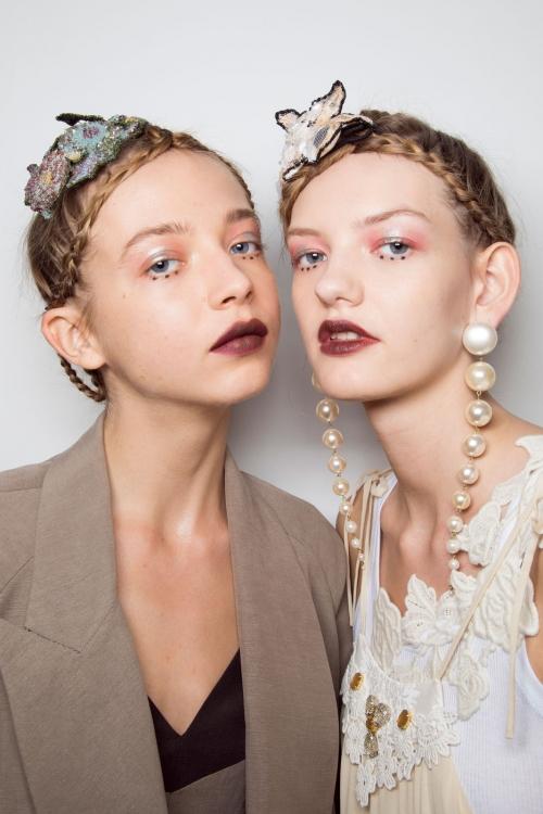 С моделью Юлией Мусийчук, бэкстейдж показа Antonio Marras, весна-лето – 2016