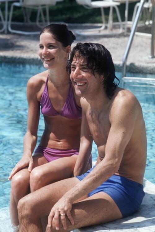 Энн Бирн и Дастин Хофман, 1975