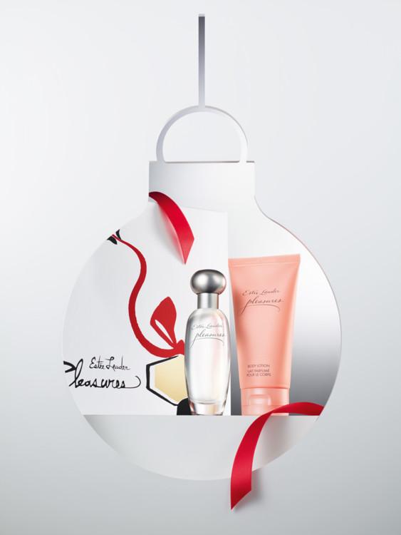 Рождественский набор Pleasures: парфюмированная вода и лосьон для тела, все - Estēe  Lauder
