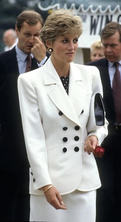 Принцесса Диана на церемонии Кубка Федерации, 1991